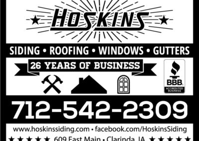 SRS Portfolio - Ads: Hoskins Siding & Windows #2