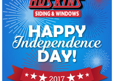 SRS Portfolio - Seasonal Graphics: Hoskins Siding & Windows - July 4th 2017