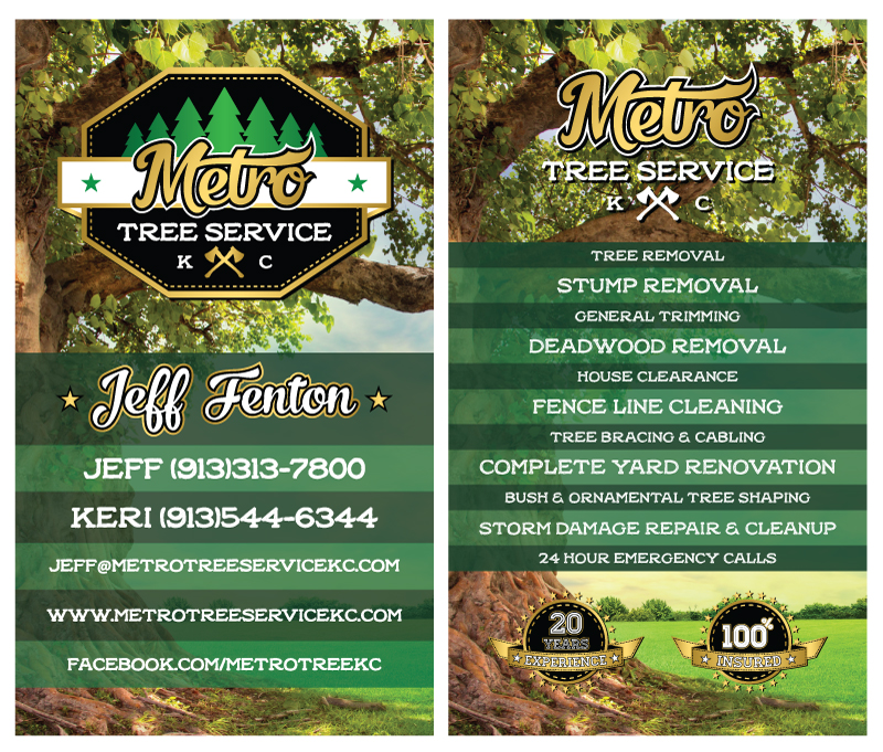 srs portfolio business cards metro tree service - Tree Service Business Cards