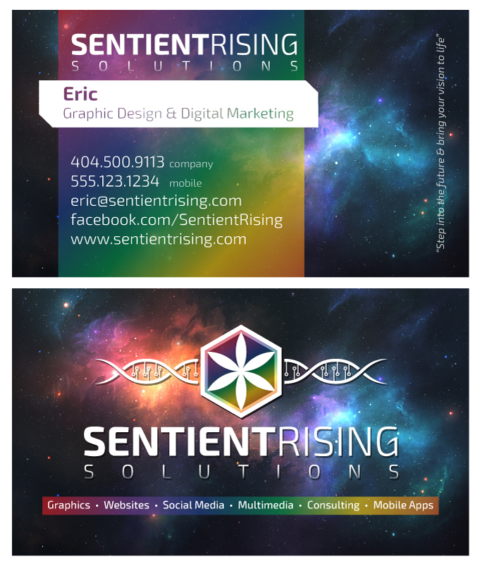 Business Card: Sentient Rising Solutions