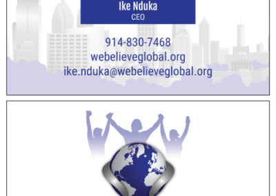 SRS Portfolio - Business Cards: We Believe Global